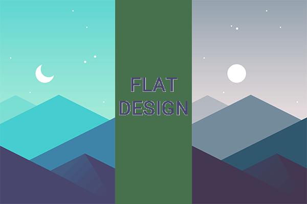 app design - flat design