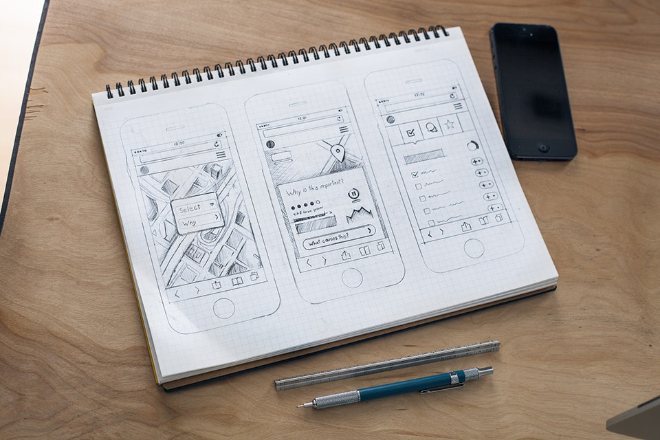 app design - wireframes