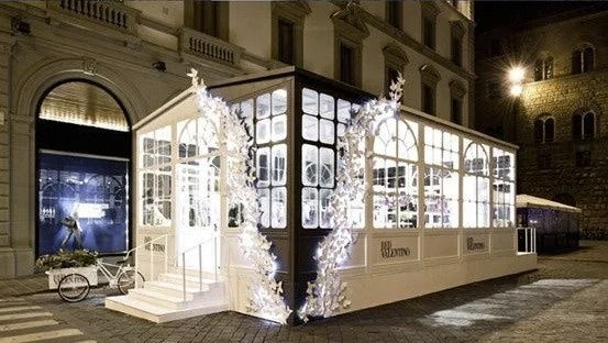 valentino pop up shop