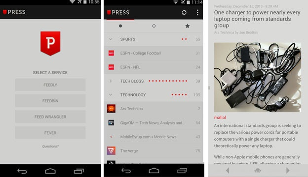 press android app