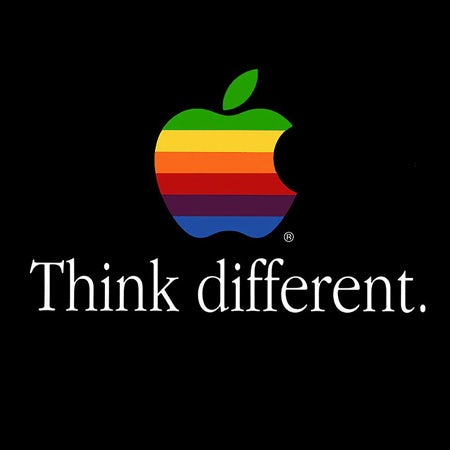 Apple think different logo font