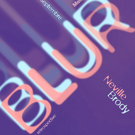 Blur book cover with Blur logo font