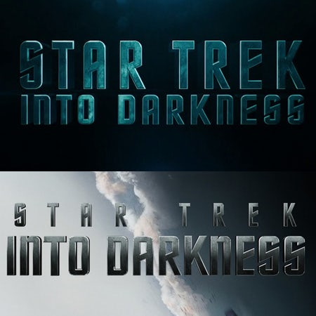 Star Trek Into Darkness logo using Horizon logo font