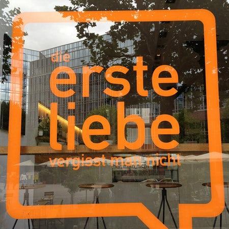erste liebe logo with ff din font