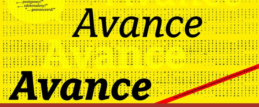 avance logo fonts example