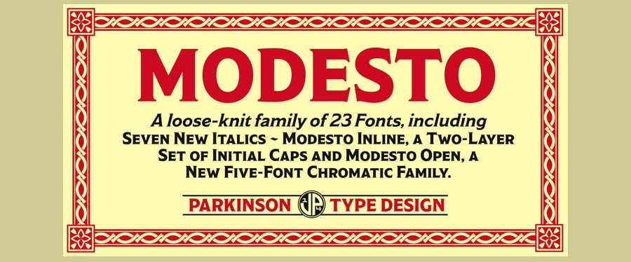 modesto logo fonts example