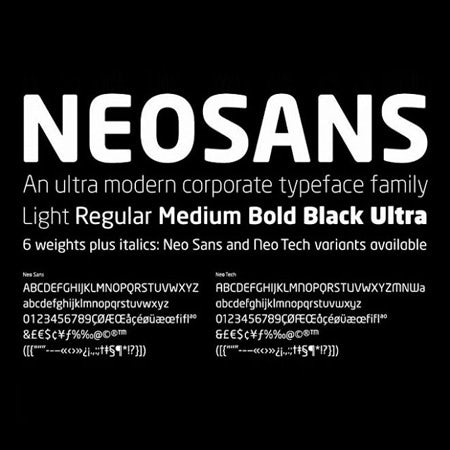 Neo Sans font example
