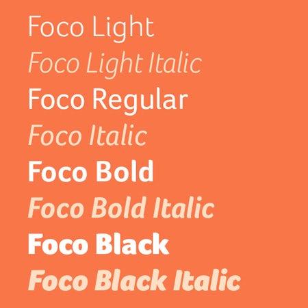 Foco font variations