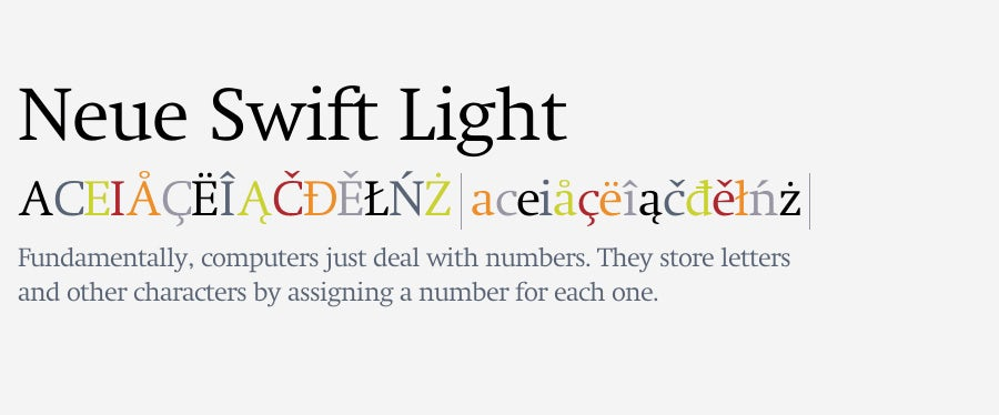 neue swift logo fonts