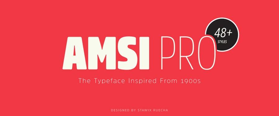 amsi-pro logo font example
