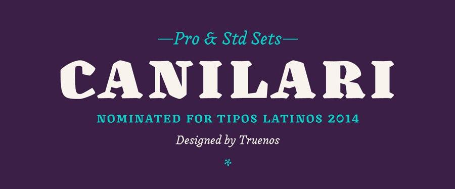 canilari logo font example