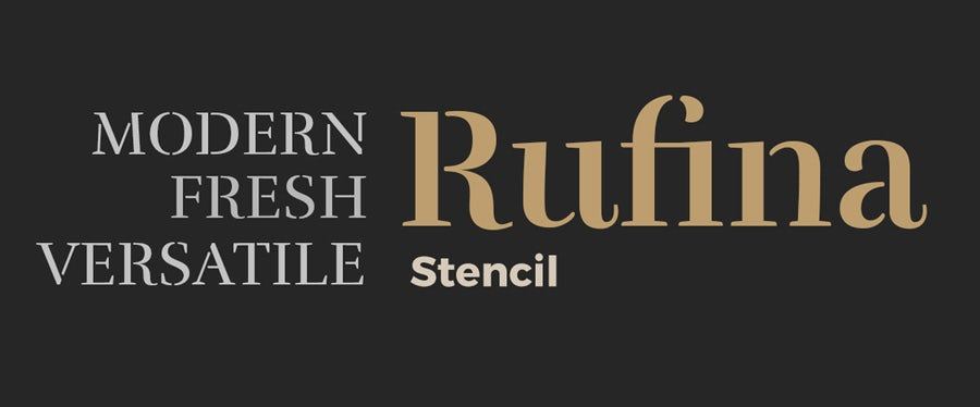 example for rufina logo fonts