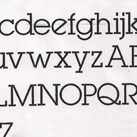 Alphabet lubin graph logo font example