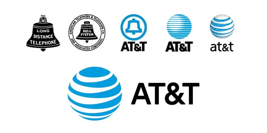tech branding: AT&T logo evolution