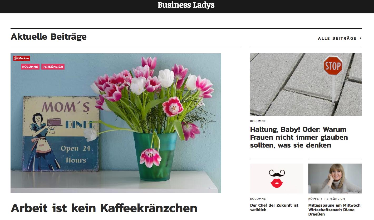 Business Ladys website