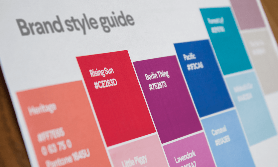 an example of brand guidelines for color