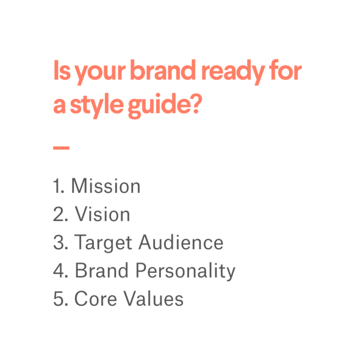 getting brand ready for style guide