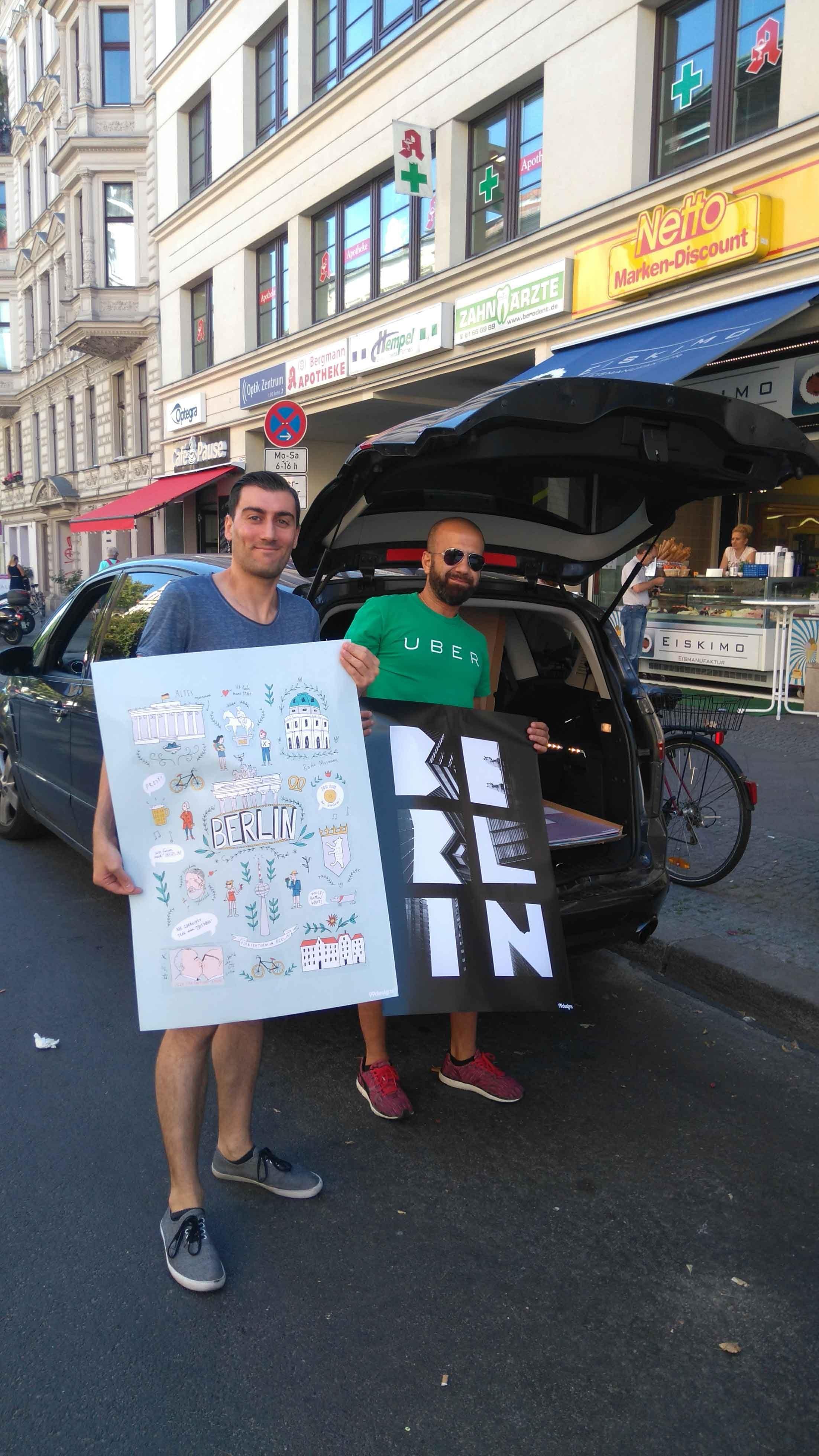 Uber City-Poster Aktion