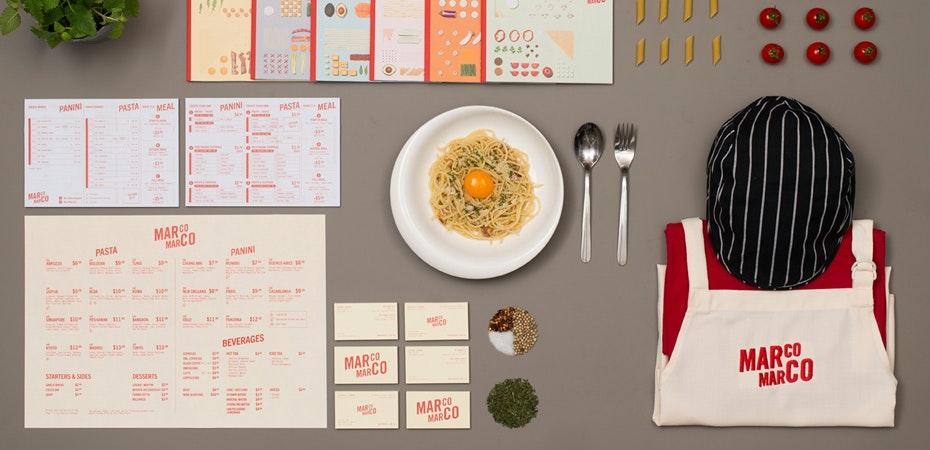 modern Italian restaurant logo
