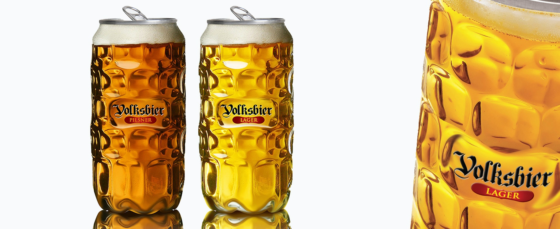 Volksbier can product packaging
