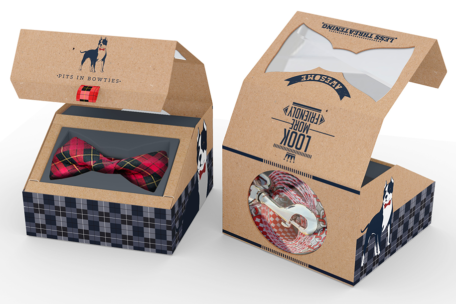Pits in Bowties product packaging from 99designs
