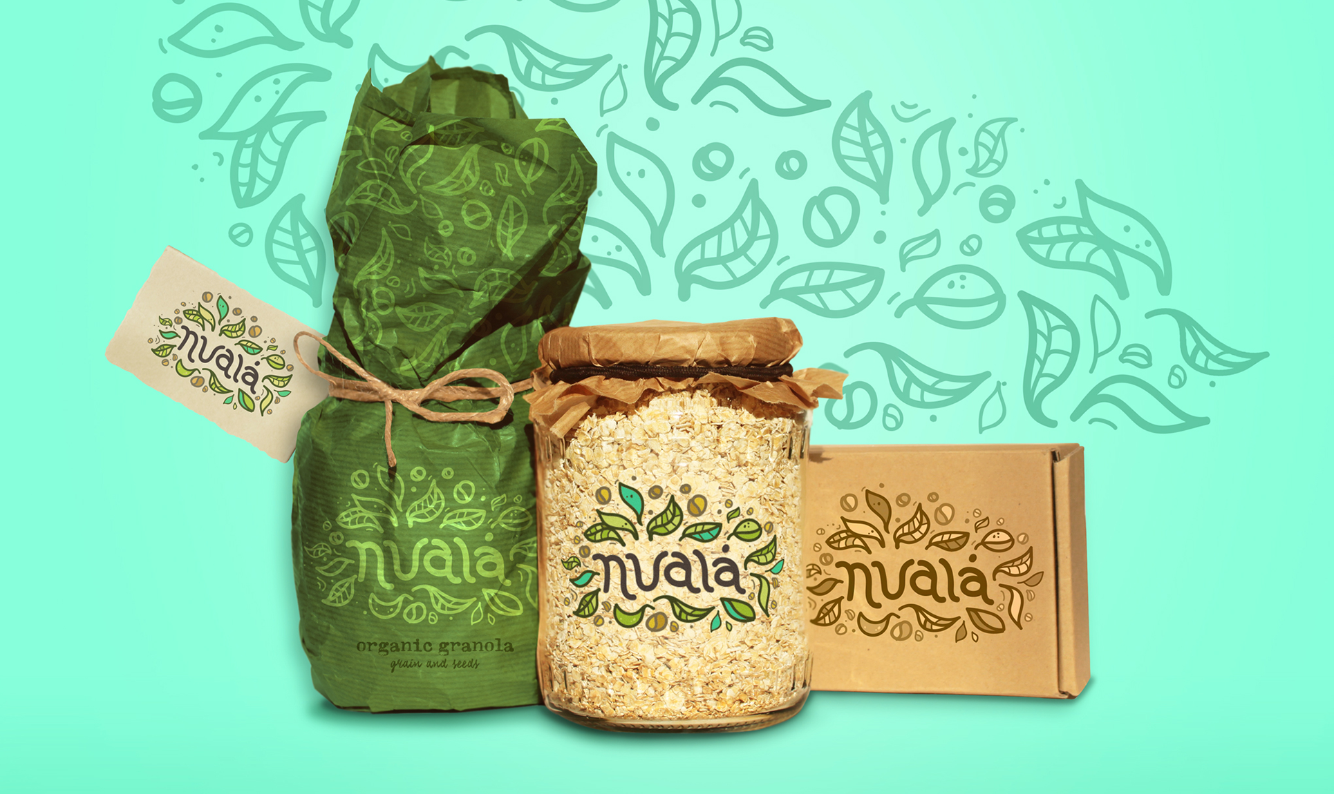 Nuala bag and jar product packaging