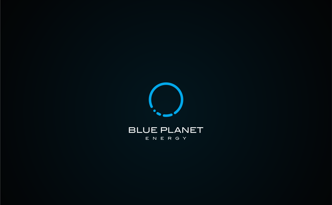 blue planet energy logo clean modern tech