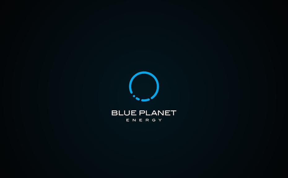 blue planet energy logo clean modern tech