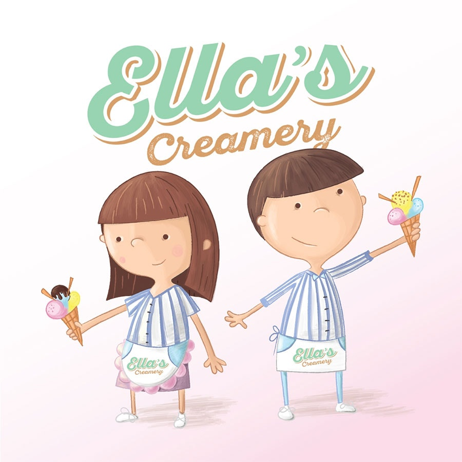 ella's creamery illustration