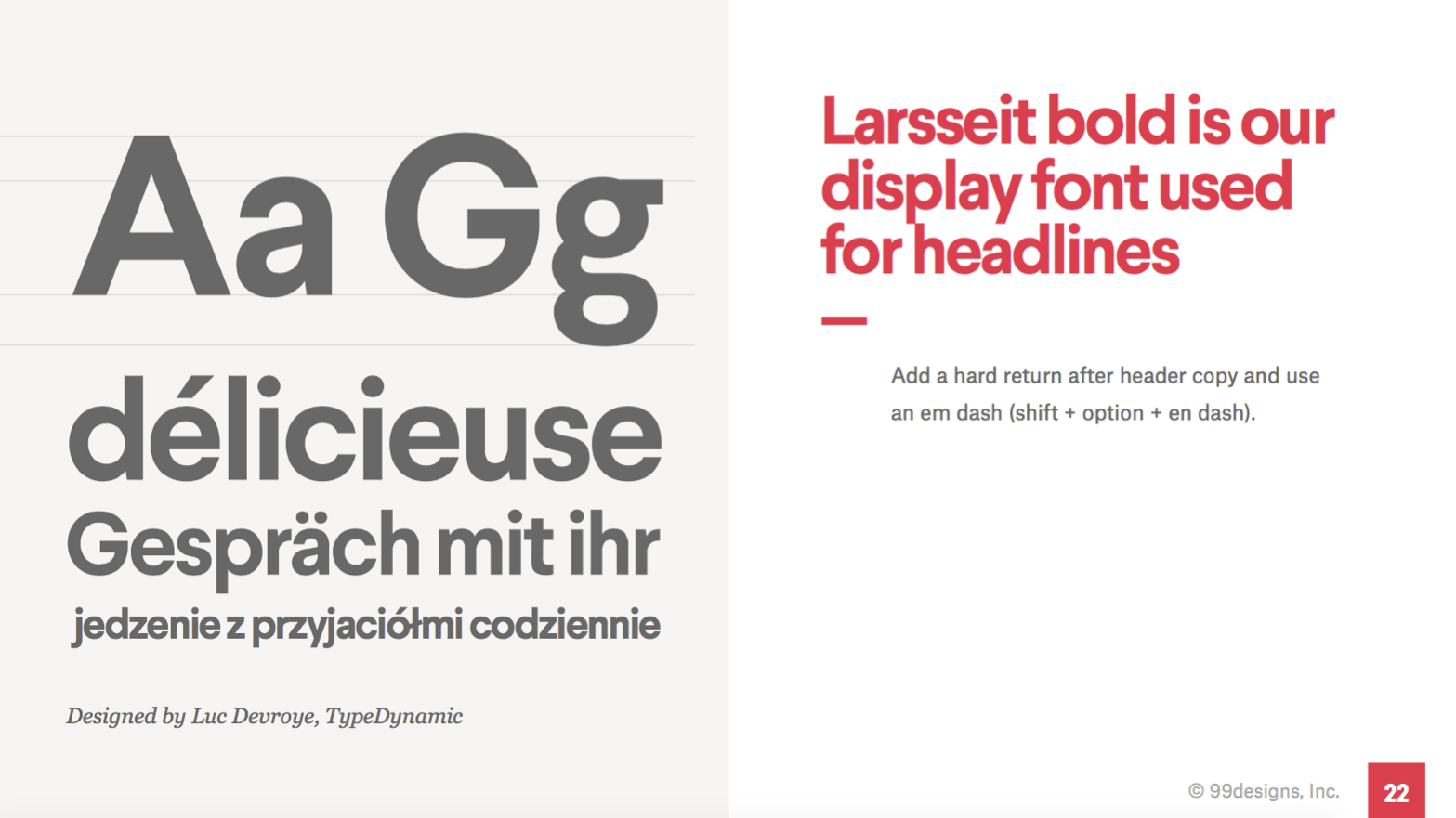 99designs font guidelines