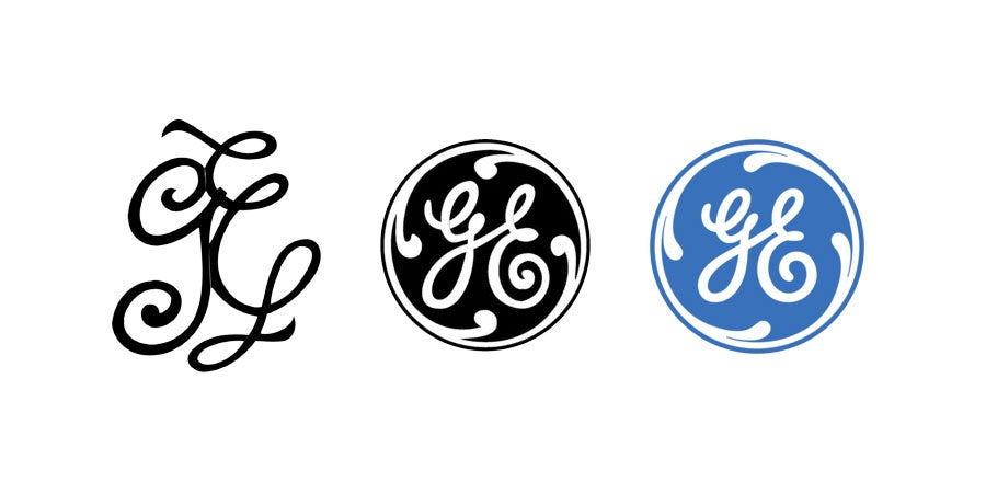 tech branding: general electric logo evolution