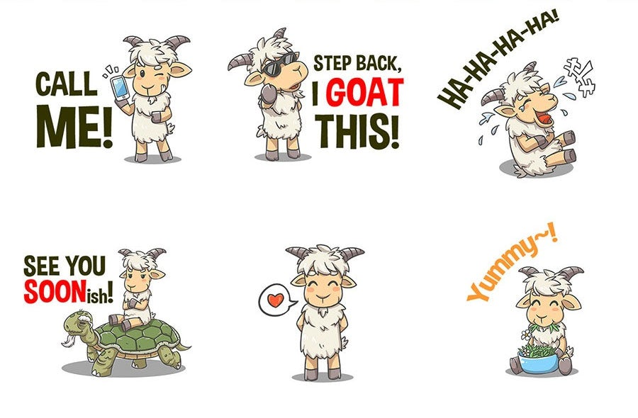 goat sticker pack