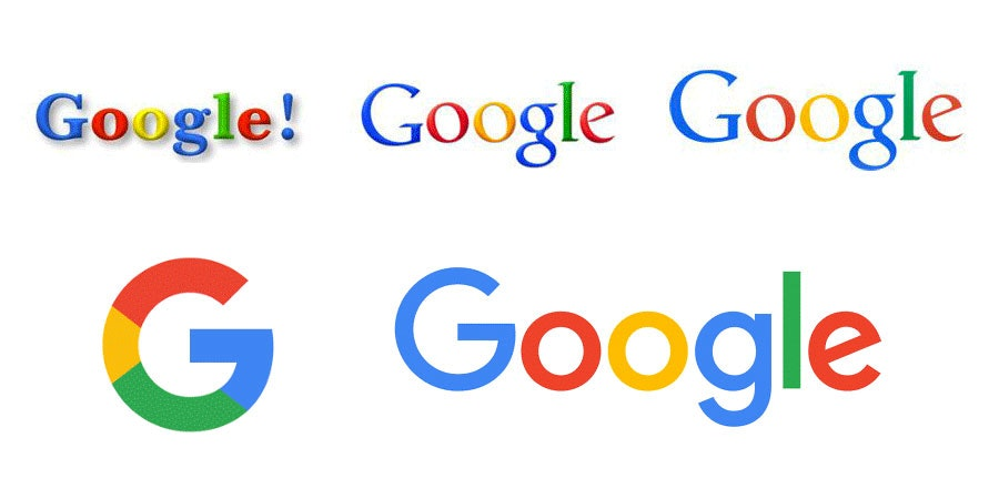 tech branding: google logo evolution