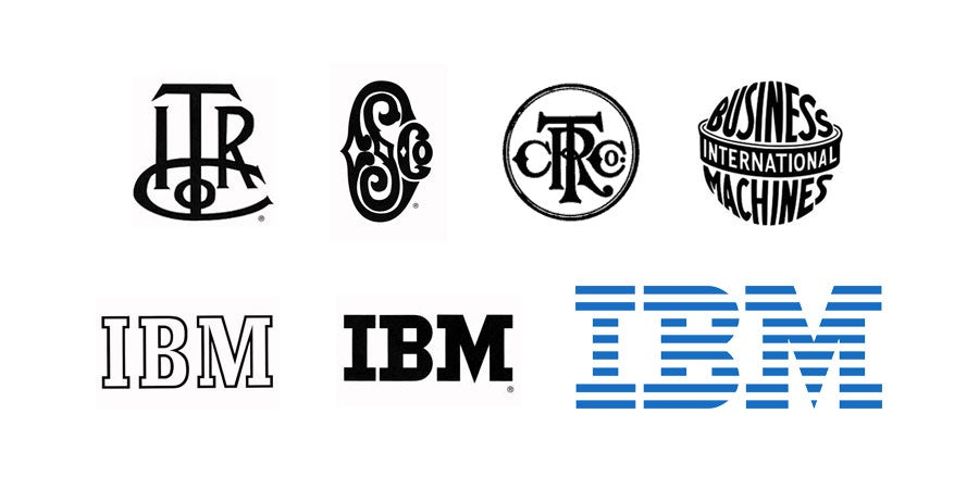 tech branding: ibm logo evolution