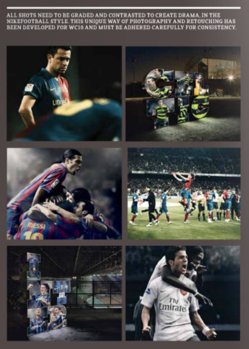 nike football brand imagery