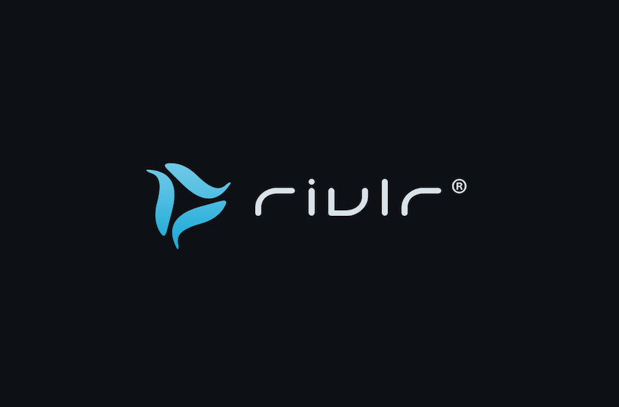 blue rivlr logo tech modern wave