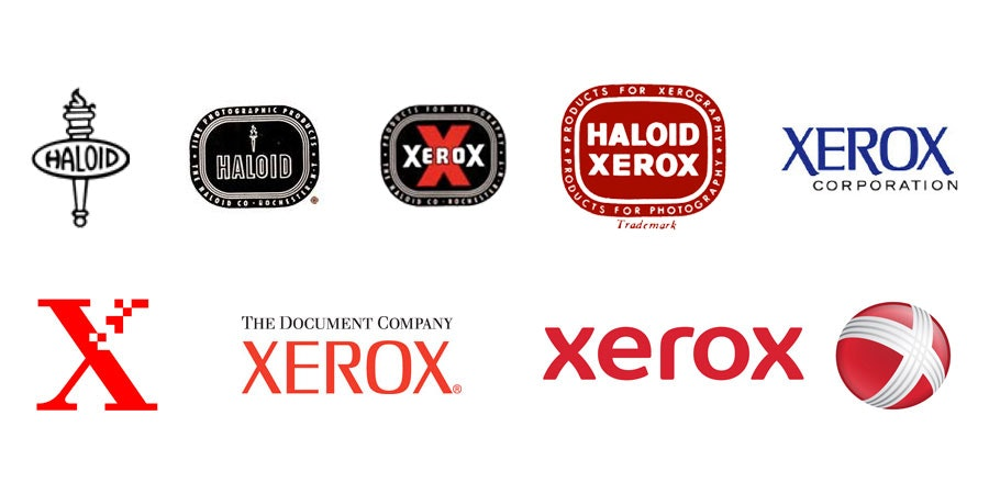 tech branding: xerox logo evolution