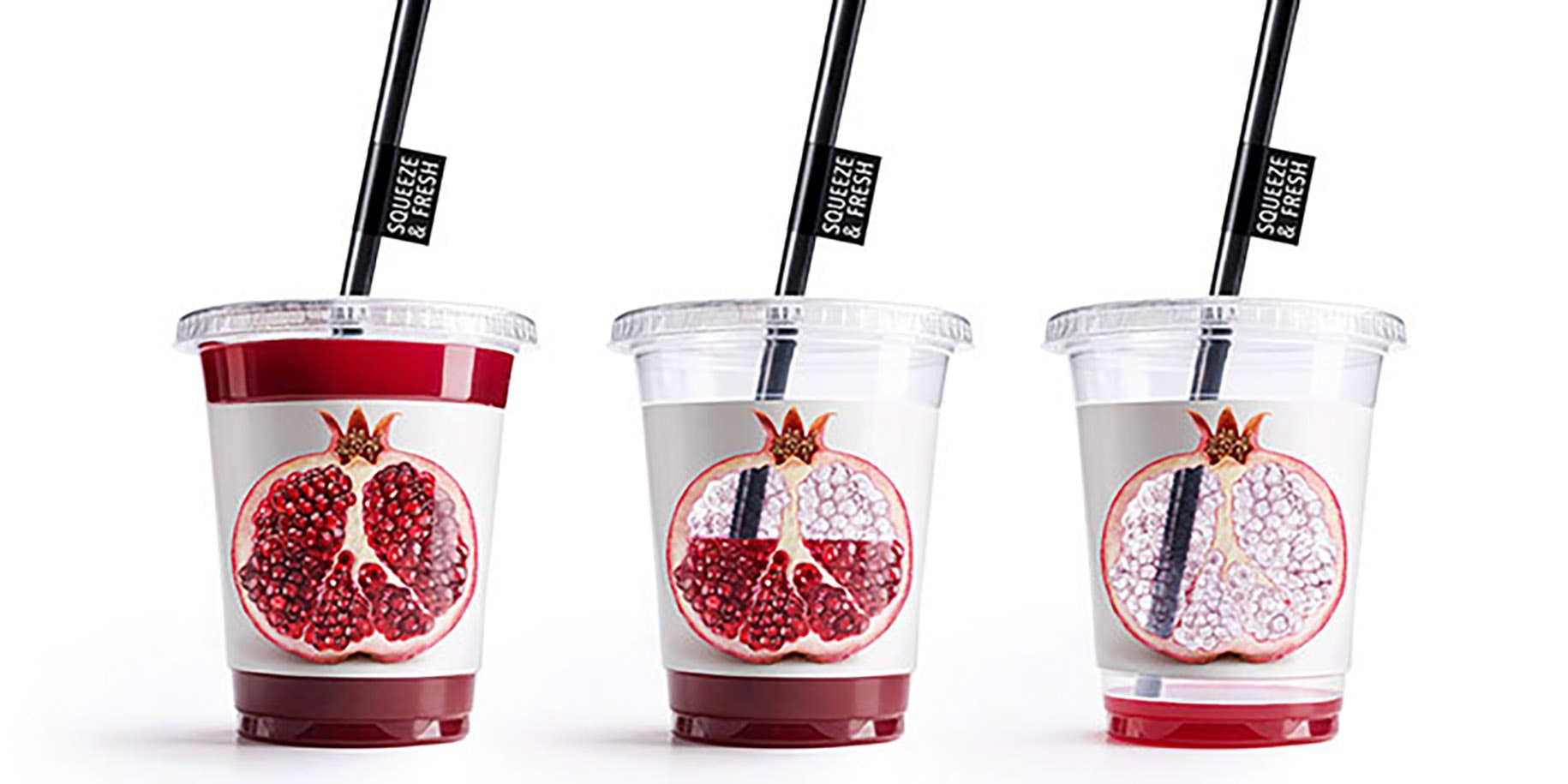 Pomegranate juice product packaging