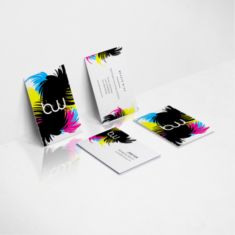 Watercolor business card designs