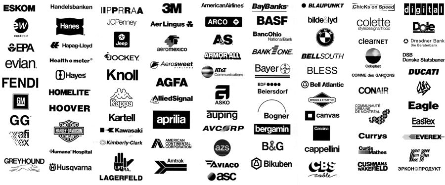 logos using helvetica logo fonts