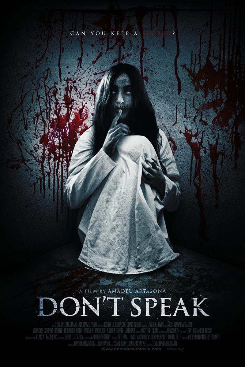don't speak poster