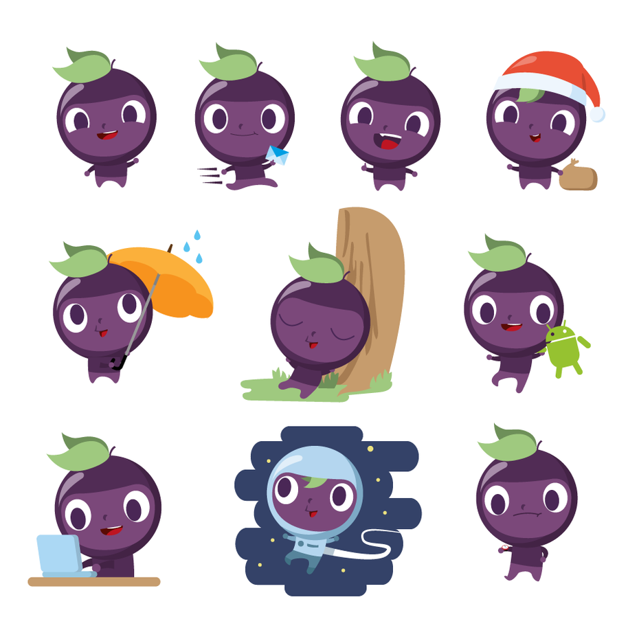 Illustrated mascot designs