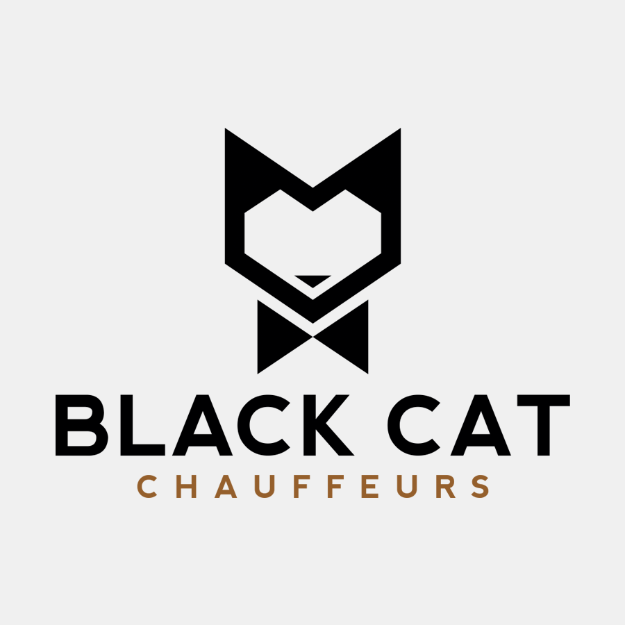 black cat chauffeurs logo