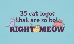 35 cat logos that are so hot right meow