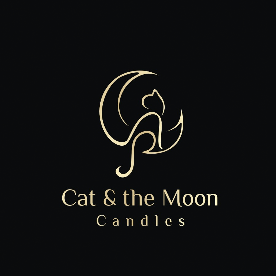 cat & the moon candles logo