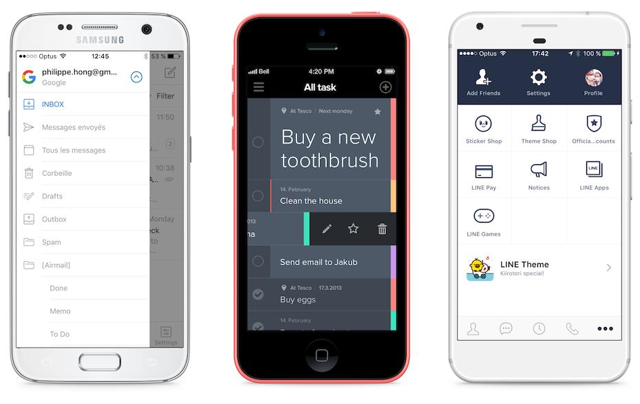 responsive design menu examples