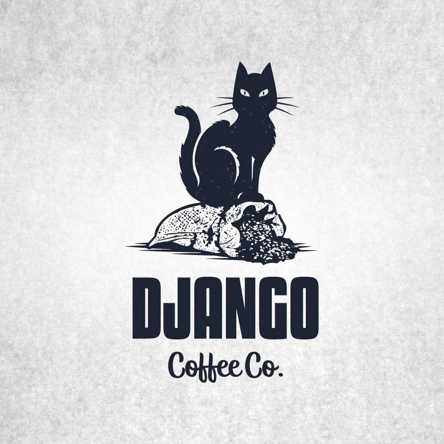 django coffee cat logo