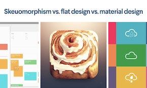Skeuomorphism vs. flat design vs material design