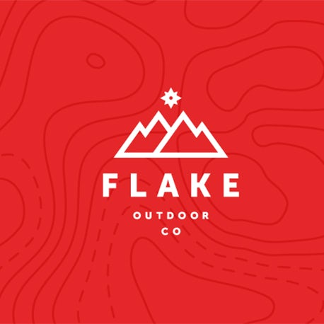 Flake mountain logo
