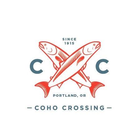 Como Crossing fish real estate logo